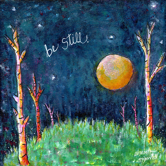 Be Still mixed media art print by Elizabeth McDonnell