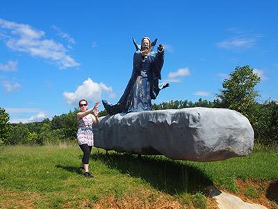 Merlin at Foamhenge - Elizabeth McDonnell