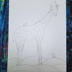 giraffe art sketch