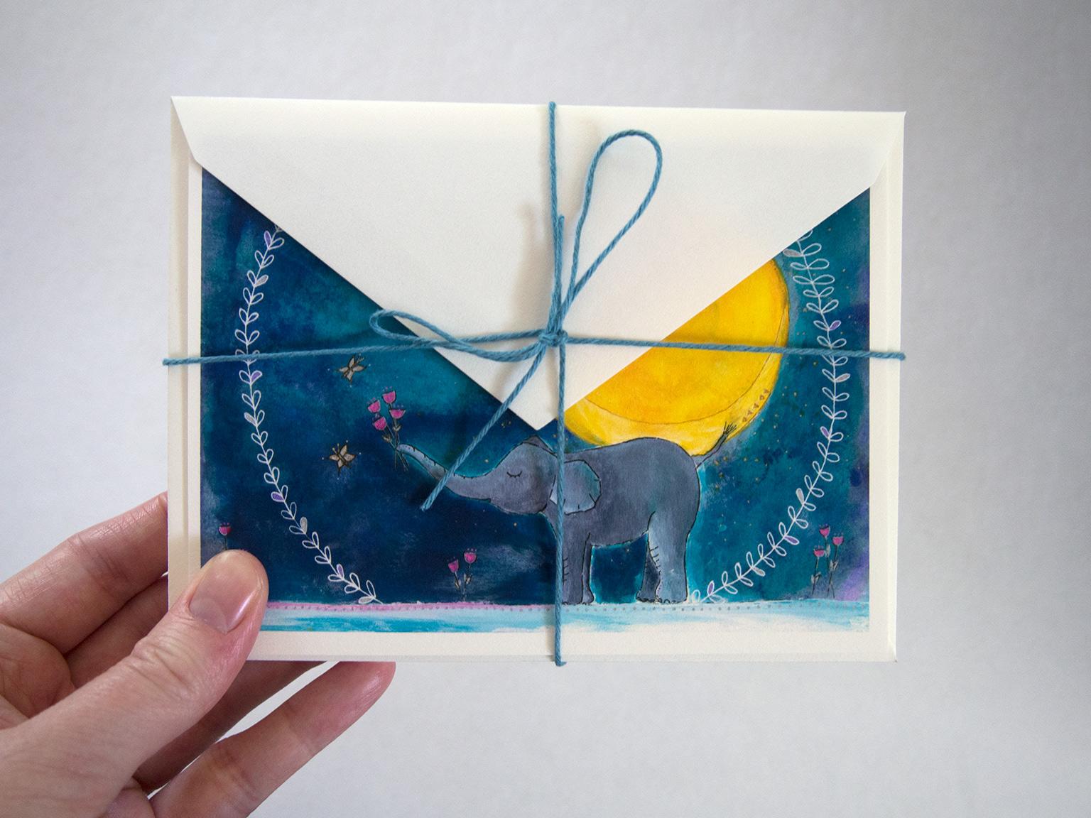 animal art cards